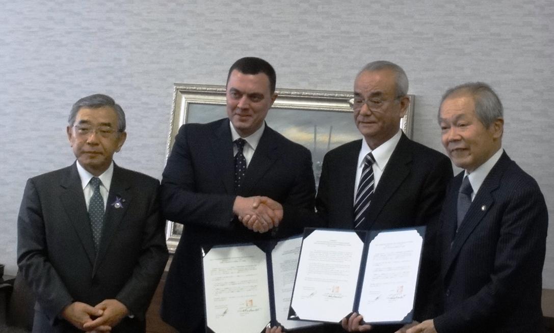 合意書署名式(H24.11.19 島根県庁)
